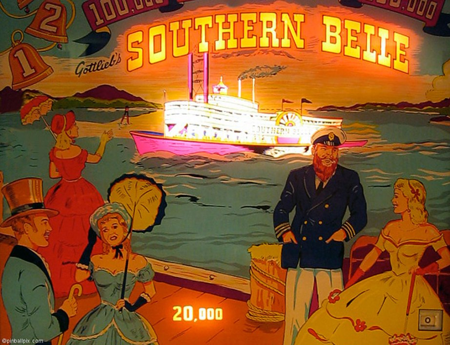 Southern Belle Pinball Desktop Wallpaper