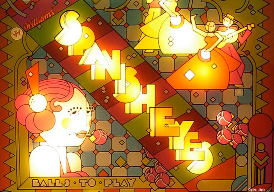 Spanish Eyes Pinball Wallpaper