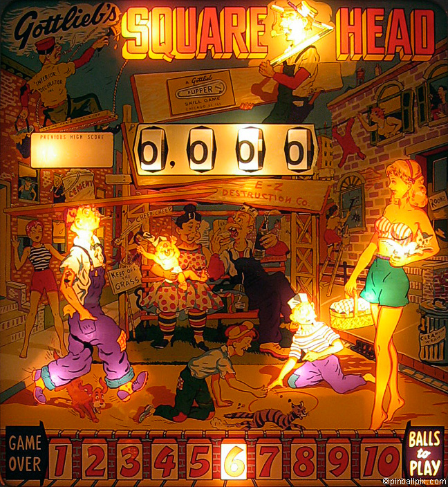 Square Head Pinball (1963 Gottlieb)