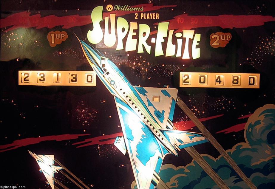 Super-Flite Pinball Wallpaper