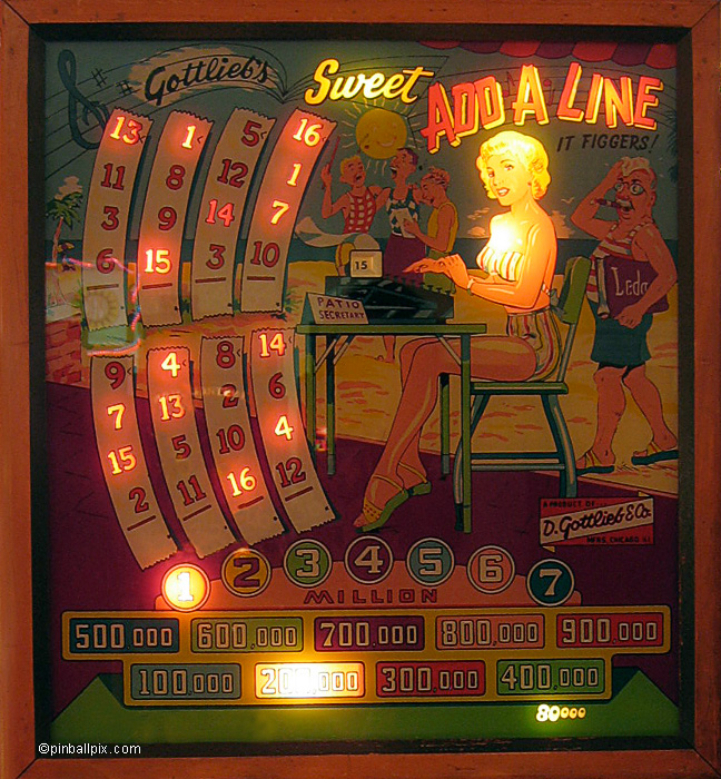 Sweet Add-A-Line Pinball