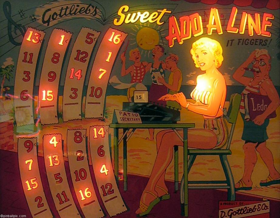 Sweet Add-A-Line Pinball Desktop Wallpaper