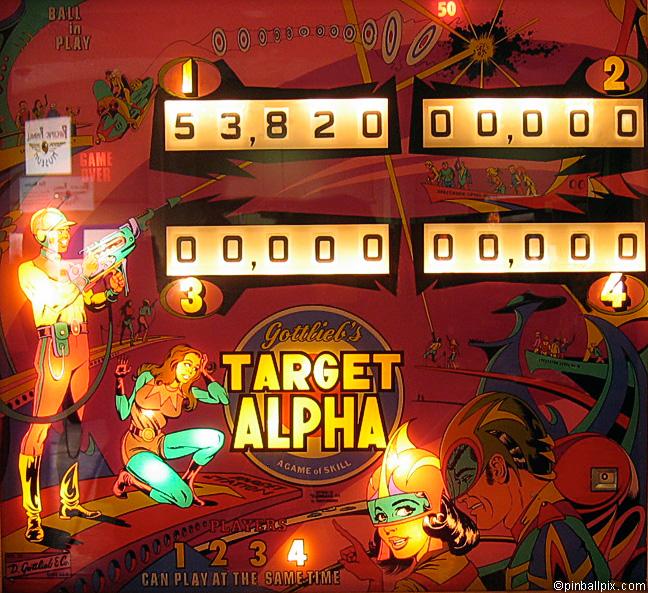 Target Alpha Pinball (1976 Gottlieb)