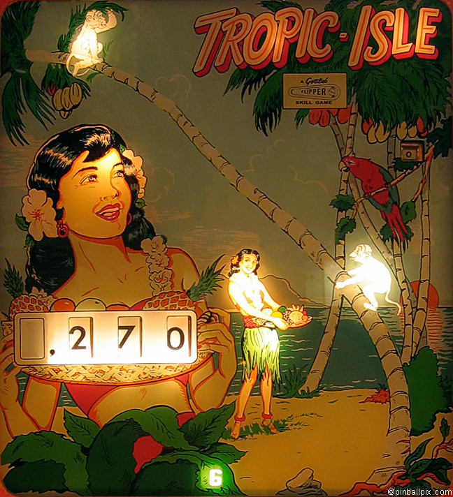 Tropic Isle Pinball (1962 Gottlieb)